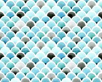 Seamless watercolor pattern, color background. Print Chevron Mermaid Scales. vibrant colors of blue, turquoise, and gray. colors o