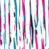Seamless watercolor pattern with colorful vertical stripes. Vect. Or background Stock Photos