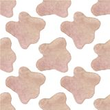 Seamless watercolor pattern with cow hide on the Royalty Free Stock Images