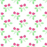 Seamless watercolor pattern with cranberries on Royalty Free Stock Photos