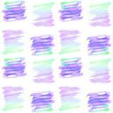 Seamless watercolor pattern. Design with gradient from magenta to turquoise color. vector hand paint Royalty Free Stock Photo