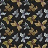 Watercolor painted leaves. Elegant leaves for art design stock illustration