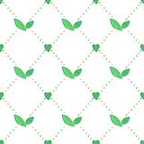 Seamless watercolor pattern with floral elements Stock Photos