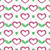Seamless watercolor pattern with floral elements Royalty Free Stock Photography