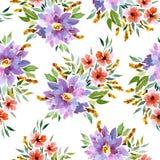 Seamless watercolor pattern stock illustration