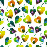 Seamless watercolor pattern with foliage Stock Photo