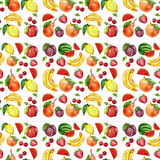 Seamless watercolor pattern with fruits Royalty Free Stock Photography