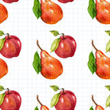 Seamless watercolor pattern with fruits Stock Photography