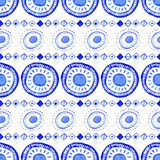 Seamless Watercolor Pattern, Hand Drawn Geometric Background Stock Images