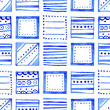 Seamless watercolor pattern, hand drawn geometric background Royalty Free Stock Image