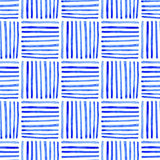 Seamless watercolor pattern, hand drawn geometric background Royalty Free Stock Photos