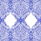 Seamless watercolor pattern lace Royalty Free Stock Photos