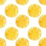 Seamless watercolor pattern with lemons on the Royalty Free Stock Photos