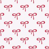 Seamless watercolor pattern with red bows on the Royalty Free Stock Photography