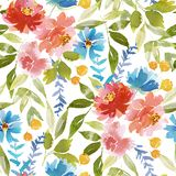Seamless watercolor pattern royalty free illustration
