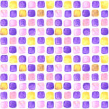 Seamless watercolor pattern with squares Stock Images