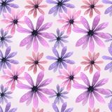 Seamless watercolor pink floral pattern Royalty Free Stock Photo
