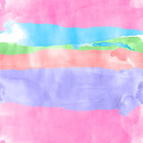 Seamless watercolor rows Royalty Free Stock Images