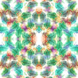 Seamless watercolor splashes pattern. Royalty Free Stock Photo