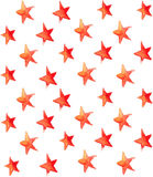 Seamless watercolor stars pattern Royalty Free Stock Image