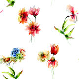 Seamless watercolor wallpaper Royalty Free Stock Photo