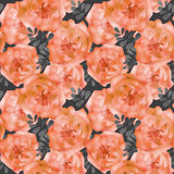 Seamless watercolors flowers pattern background Stock Images