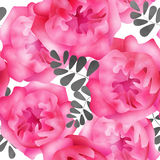 Seamless watercolors flowers pattern background Royalty Free Stock Photo