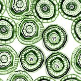 Seamless watercolour pattern with green aborigine flowers. For textile, ceramic, wrapping, craft vector illustration