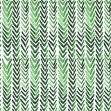 Seamless watercolour pattern with green ikat ribs. For wrapping, textile, ceramic Royalty Free Stock Images