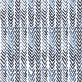 Seamless watercolour pattern with indigo ribs on white. For wrapping, textile, ceramic Stock Image