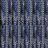 Seamless watercolour pattern with indigo ribs. For wrapping, textile, ceramic Stock Photography