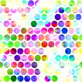Seamless Watercolour Polka Dots Textile. An artistic digitally painted polka dot background pattern Stock Photo
