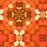 Seamless Watercolour Poppy Pattern. A completely seamless abstract tile able paper pattern royalty free stock photos