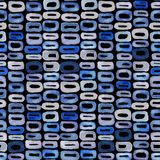 Seamless watercolour retro pattern 60s blue on black. For craft, textile, wrapping, decotate Stock Images