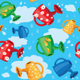 Seamless watering can Royalty Free Stock Photos