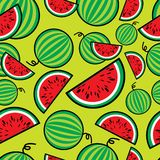 Seamless watermelon pattern Stock Photo