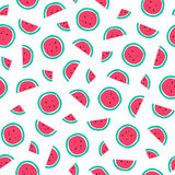 Seamless watermelon pattern. Royalty Free Stock Photo