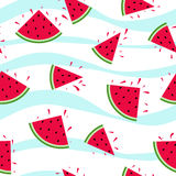 Seamless watermelon pattern Stock Images