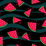 Seamless watermelon pattern Royalty Free Stock Images