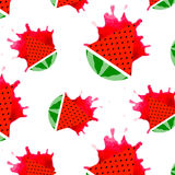 Seamless Watermelons Pattern. Royalty Free Stock Photography