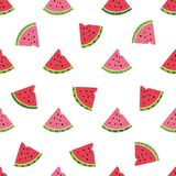 Seamless watermelons pattern Stock Photography