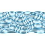 seamless wave Royaltyfri Bild
