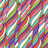 Seamless wave abstract hand drawn pattern Stock Images