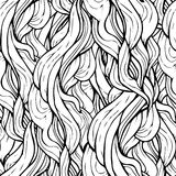Seamless wave hand-drawn in black and white Royalty Free Stock Photography