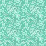 Seamless wave hand-drawn pattern Stock Images