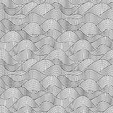 Seamless wave hand drawn pattern. Abstract vintage Stock Image