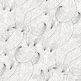 Seamless Wave Hand-drawn Pattern Stock Image