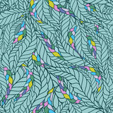 Seamless wave hand-drawn pattern Royalty Free Stock Photos