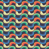 Seamless wave hand-drawn pattern Stock Photography