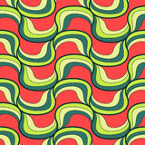 Seamless wave hand-drawn pattern, vector Stock Images